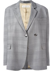 Golden Goose Deluxe Brand Prince Of Wales Check Blazer Grey