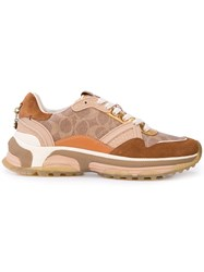 Coach Signature Runner Sneakers Brown