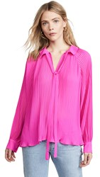 Endless Rose Pleated Chiffon Blouse Pink