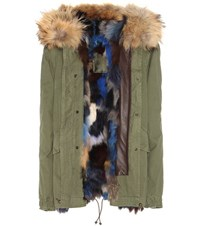 Mr And Mrs Italy Army Parka With Fur Lining Trim Green