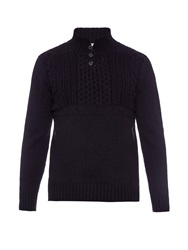 Inis Meain Button Neck Merino Wool Sweater