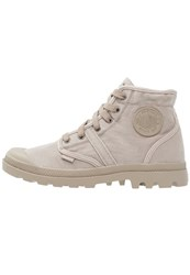 Palladium Pallabrouse Laceup Boots Goat Silver Birch Light Grey