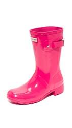 Hunter Original Tour Short Gloss Boots Mosse Pink