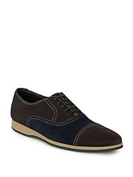 Canali Lace Up Leather Dress Shoes Brown