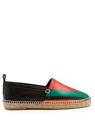 Loewe Striped Leather Espadrilles Multi