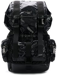 Balmain Utility Pocket Backpack Black