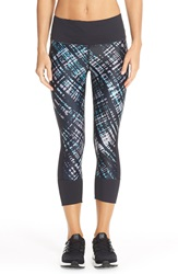 Caelum Print Capri Leggings Onyx Multi Urban Plaid