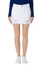 J Brand Women's Bonny Cutoff Denim Miniskirt
