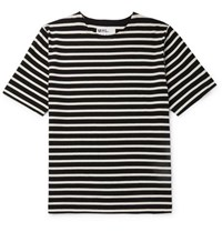 Margaret Howell Mhl Striped Cotton Jersey T Shirt Black
