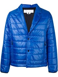 Ganryu Comme Des Garcons Notch Lapel Padded Jacket Blue