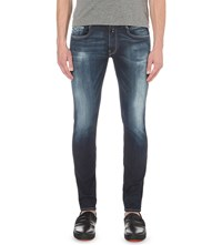 Replay Anbass Hyperflex Slim Fit Skinny Jeans Navy