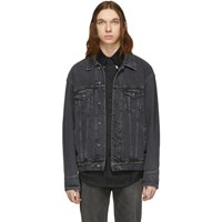 Sankuanz Black Denim Stonewashed Jacket
