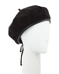 Eric Javits Kate Suede Adjustable Beret Hat Black