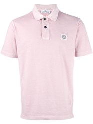 Stone Island Classic Polo Shirt Pink Purple