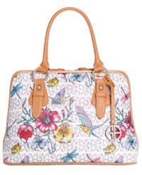 Giani Bernini Floral Signature Dome Satchel Only At Macy's White