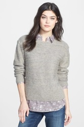 Ace Delivery Metallic Sweater Gray