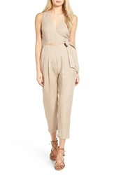 Astr Women's Collette Crop Jumpsuit