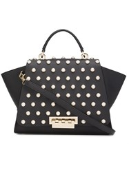 Zac Posen 'Eartha Iconic Top Handle' Pearly Tote Black