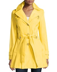 Via Spiga Scarpa Single Breasted Hooded Trenchcoat Citrus