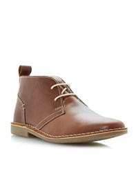 Howick Hampstead Faux Fur Lined Desert Boots Tan