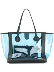 Philipp Plein Sheer Tote Bag Blue