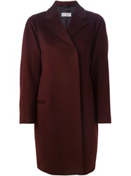 Alberto Biani Double Breasted Overcoat Red