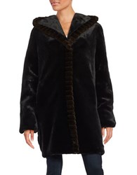 Gallery Faux Fur Hooded Jacket Black