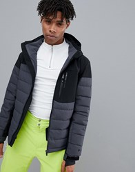 Protest Mount 18 Puffer Snow Jacket In Black