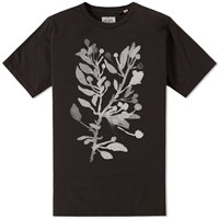 The Hill Side Liza's Tree Drawing Printed Tee Black