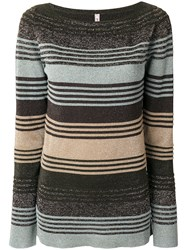 Antonio Marras Striped Knitted Sweater Women Nylon Polyester Viscose Metallized Polyester S
