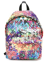 Moschino Graffiti Quilted Backpack