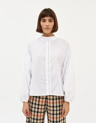 Just Female Senna Blouse In White Size Extra Small 100 Cotton