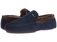 Ted Baker Moriss Dark Blue Suede Men's Slip On Shoes