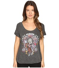 Just Cavalli Dolly Parton Short Sleeve Scoop Neck T Shirt Black