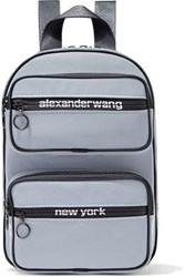 Alexander Wang Woman Reflective Shell Backpack Gray
