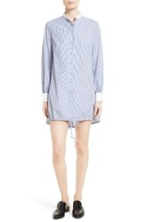 Harvey Faircloth Women's Stripe Cotton Shirtdress