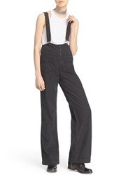 Women's Free People Pinstripe Flare Overalls