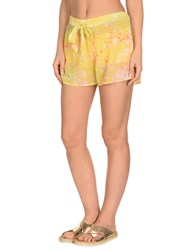 Miss Naory Beach Shorts And Pants Yellow