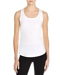 Under Armour Fly By Mesh Trimmed Racerback Tank White