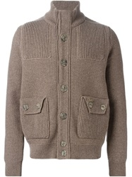 Bark Buttoned Cardigan Brown