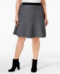 Rachel Roy Curvy Plus Size Fit And Flare Sweater Skirt Black