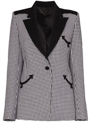 Paco Rabanne Houndstooth Single Breasted Blazer 60