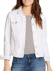 Jessica Simpson Sussex Long Sleeve Denim Jacket Star White