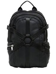 Bikkembergs Harness Waxed Cotton Canvas Backpack