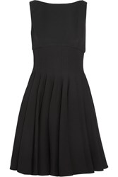 Miu Miu Pleated Cady Mini Dress Black