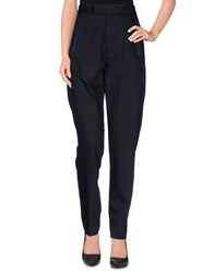 Wood Wood Woodwood Trousers Casual Trousers Women Dark Blue