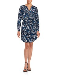 Rebecca Taylor Mystic Printed Silk Dress Navy Combo