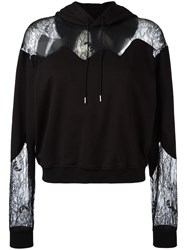 Mcq By Alexander Mcqueen Lace Panels Hoody Black