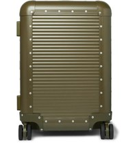 Fabbrica Pelletterie Milano Nick Wooster Bank Spinner 53Cm Aluminium Suitcase Green