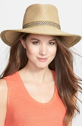 Eric Javits Women's 'Georgia' Woven Hat Brown Peanut
